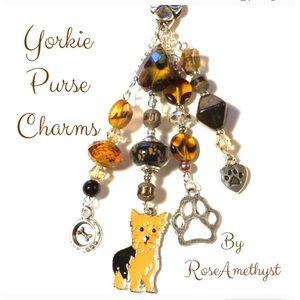 Yorkie Purse Charms